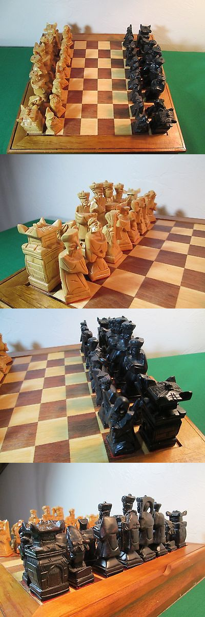 Vintage Chess 19088: Wooden Asian Style Chess Set With Felt Bottoms  U003e BUY  IT