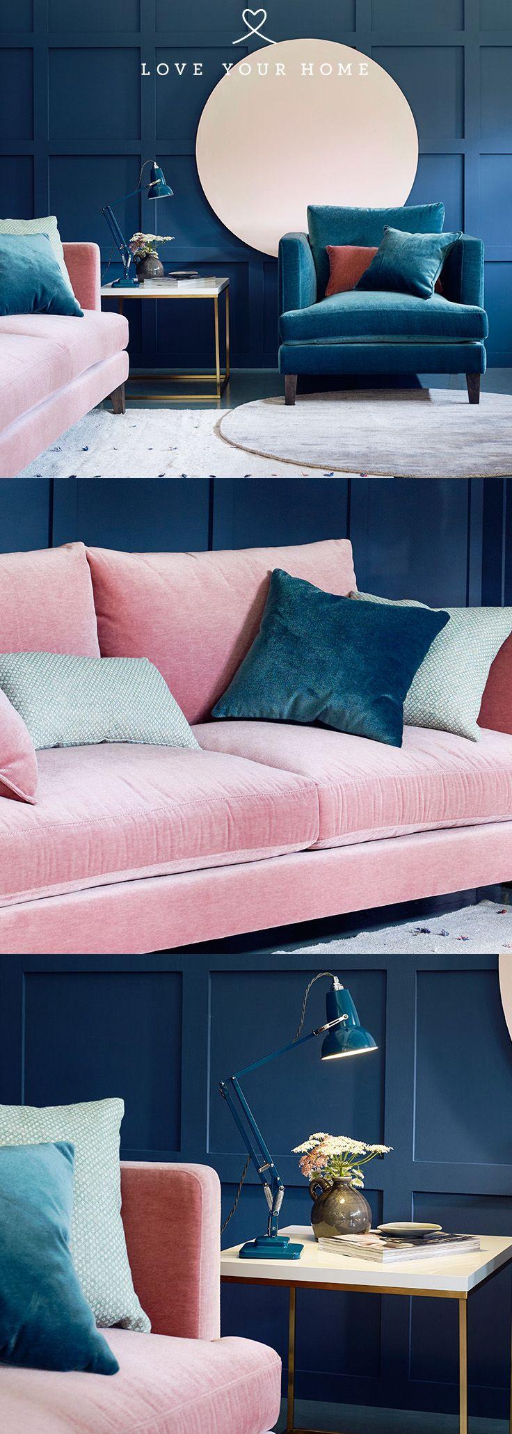 Marlon Modern Sofa in 2020 | Living room decor blue sofa ...