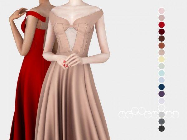 Jil Sander Dress ( 1 ) by mauvemorn – The Sims 4