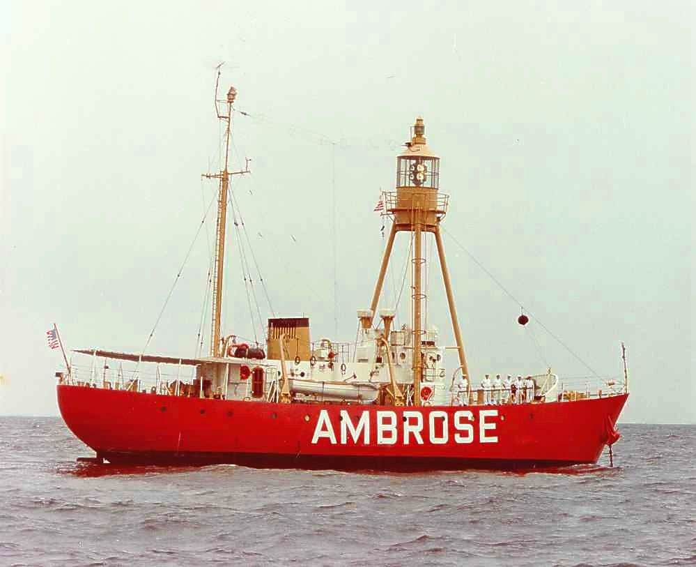 """More recent photo of the Ambrose """"Lightship,"""" NJ."""