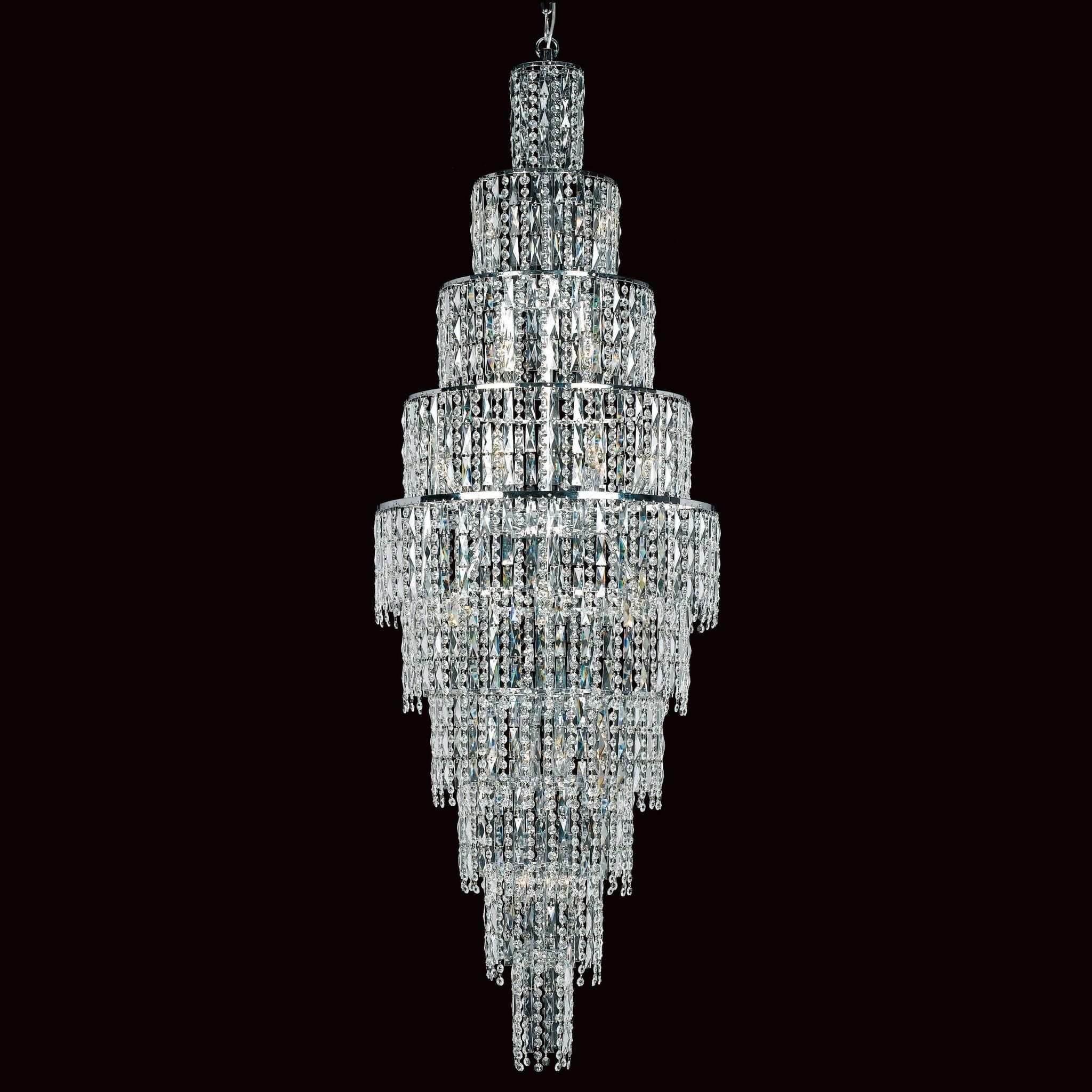 Impex new york 24 light glass icicle crystal chandelier cf03220 24 lights aloadofball Image collections