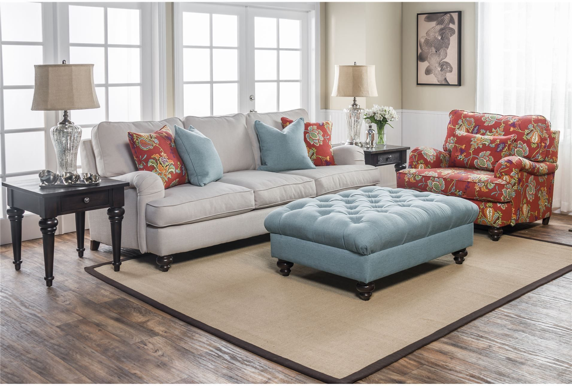 Carmel Ottoman  Ottomans Living Spaces And Living Rooms Captivating Living Room Ottoman Inspiration Design