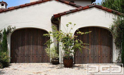 Spanish Style Garage Door Handcrafted in Reclaimed Wood  Rustic