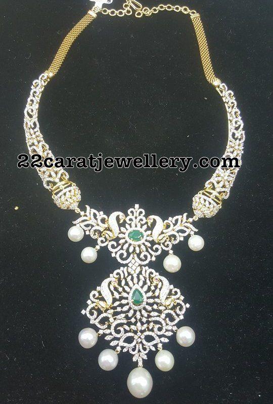 7 Lakhs Latest Diamond Set Indian Diamond Jewellery Gold Necklace Designs Necklace