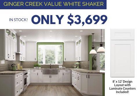 10 Kitchens Under $10,000 #whiteshakercabinets