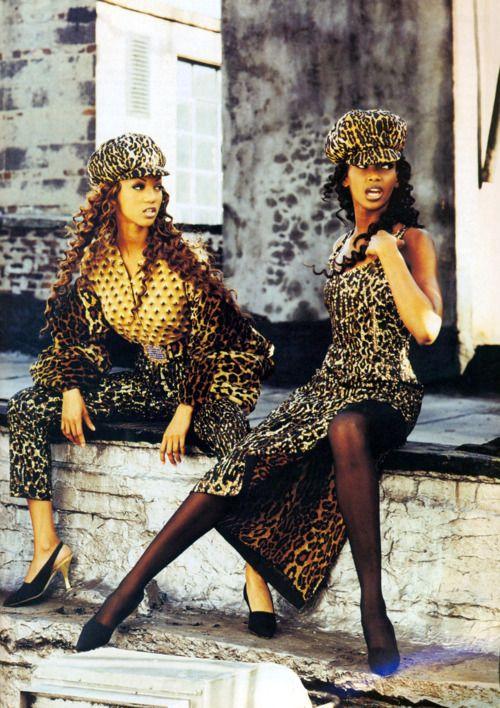 """Breaking Away"", Vogue US, September 1992Photographer: Max VadukulModels: Tyra Banks & Stephanie Roberts"