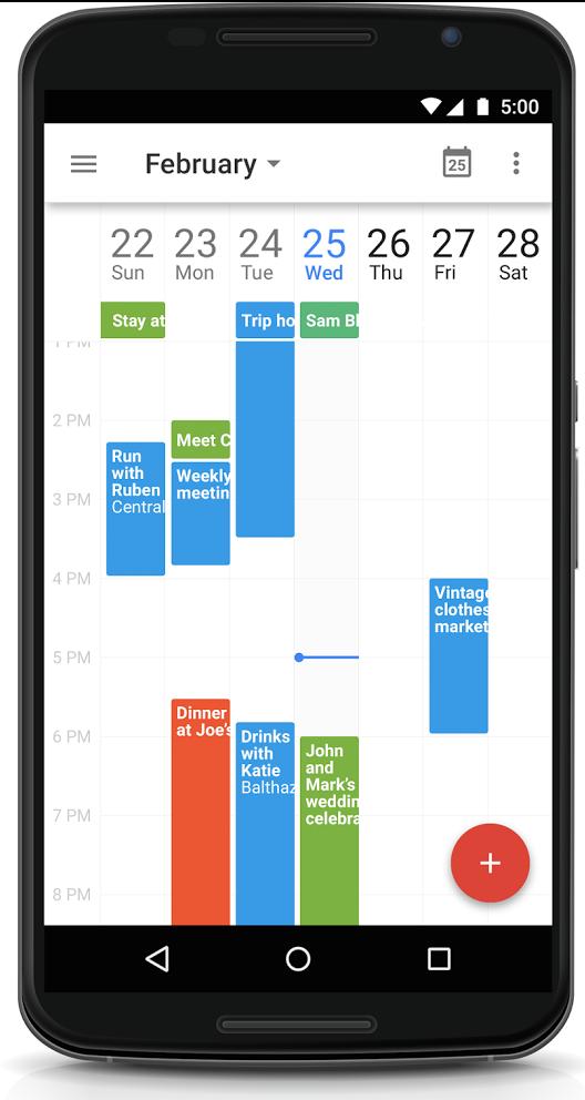 Google Tweaks Android Calendar App UI, Adds Drive Support