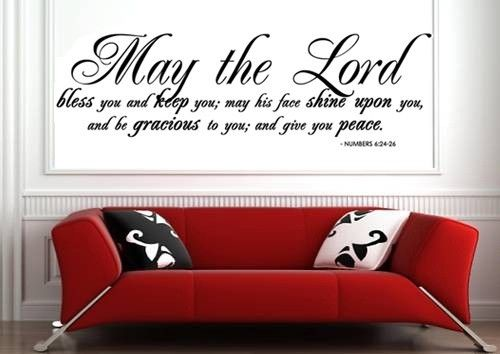 Wall Decal May The Lord Bless You And Keep You Scripture Wall Decal Quote Wall Stickers Lyrics Scripture Wall Decal Wall Stickers Quotes