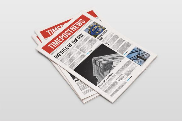 Newspaper Template 12 Pages By Greendesign On Creative Market