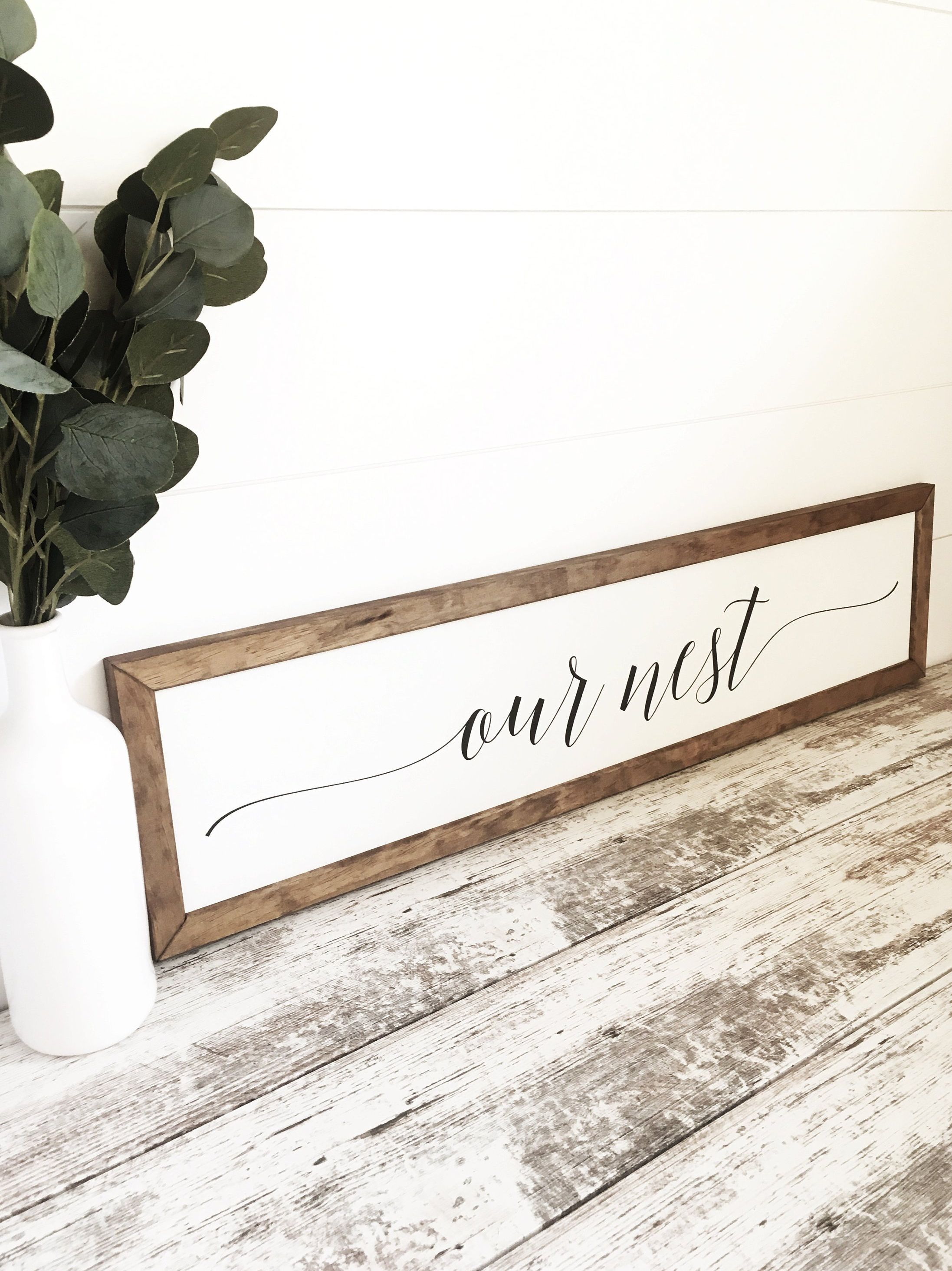 Our Nest Sign Bedroom Signs Rustic Home Decor Bedroom