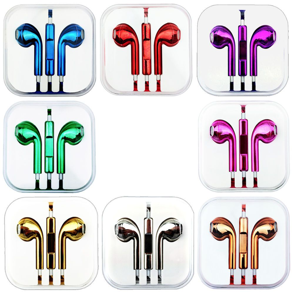 Metallic Handsfree Headphone For Apple Iphone 5s 5c 5 4s Earphone Colour Earpods Apple Iphone 5s Apple Earphones Iphone