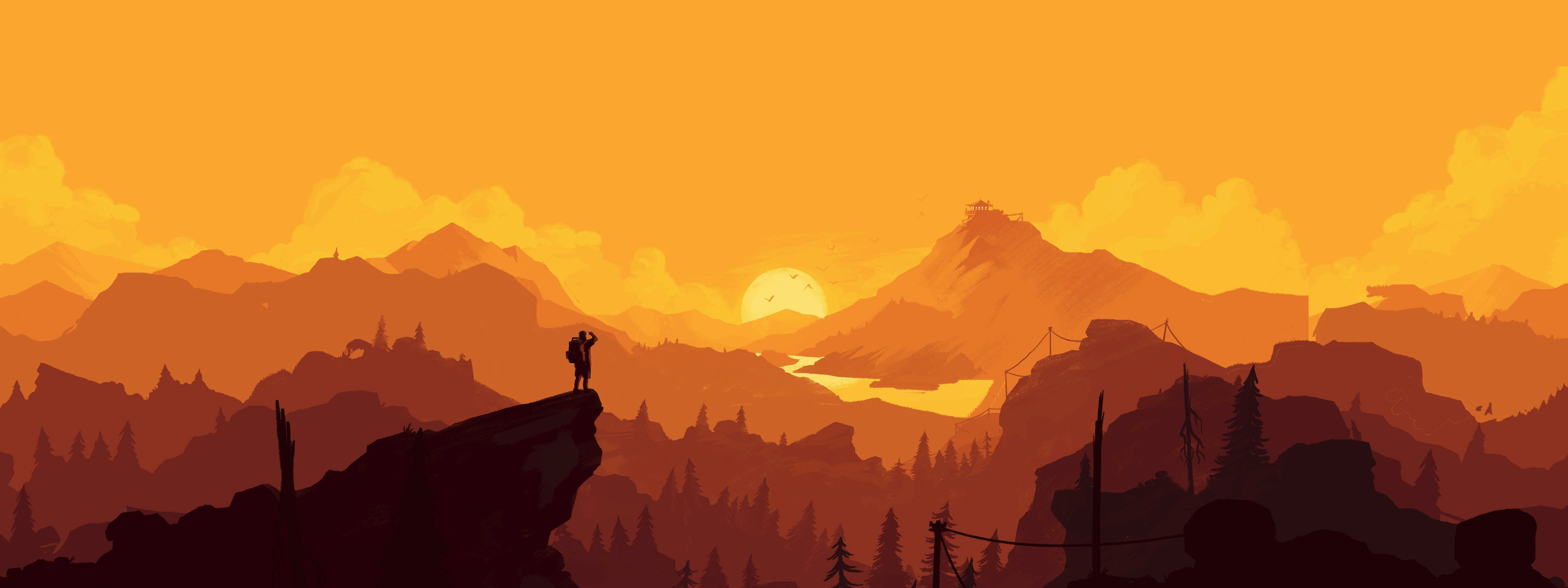 Firewatch [5760x2160] Firewatch, Wallpaper for facebook