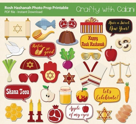 Rosh Hashanah Photo Booth Props Jewish New Year Photo Booth Prop
