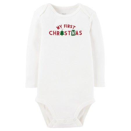2da98f70 Babys' My First Christmas Long-Sleeve Bodysuit White - Just One You ...