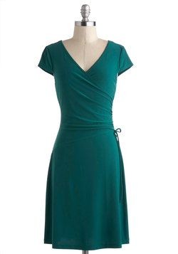 Been looking for the perfect wrap dress... Teal It With a Kiss Dress, #ModCloth