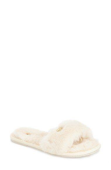 788781755e38 Free shipping and returns on MICHAEL Michael Kors Faux Fur Slide Slipper  (Women) at