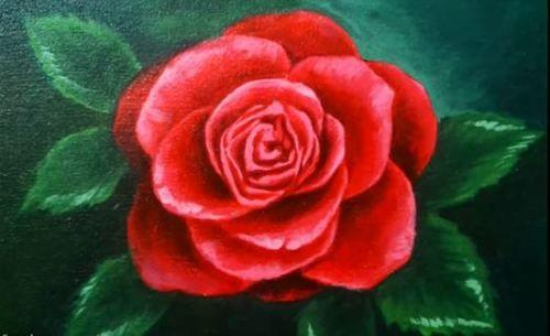 Dessin Et Peinture Video 2062 Pour Vous Cette Rose Rouge