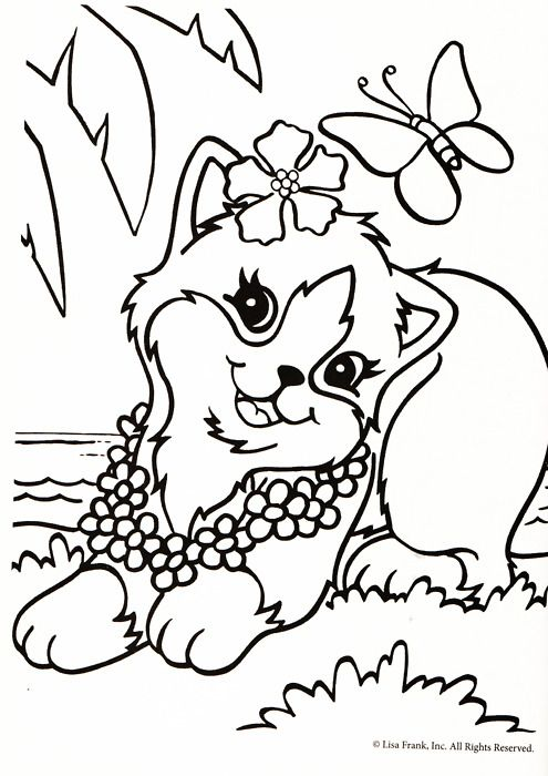 Lisa Frank Coloring Page Animal Coloring Pages Dog Coloring