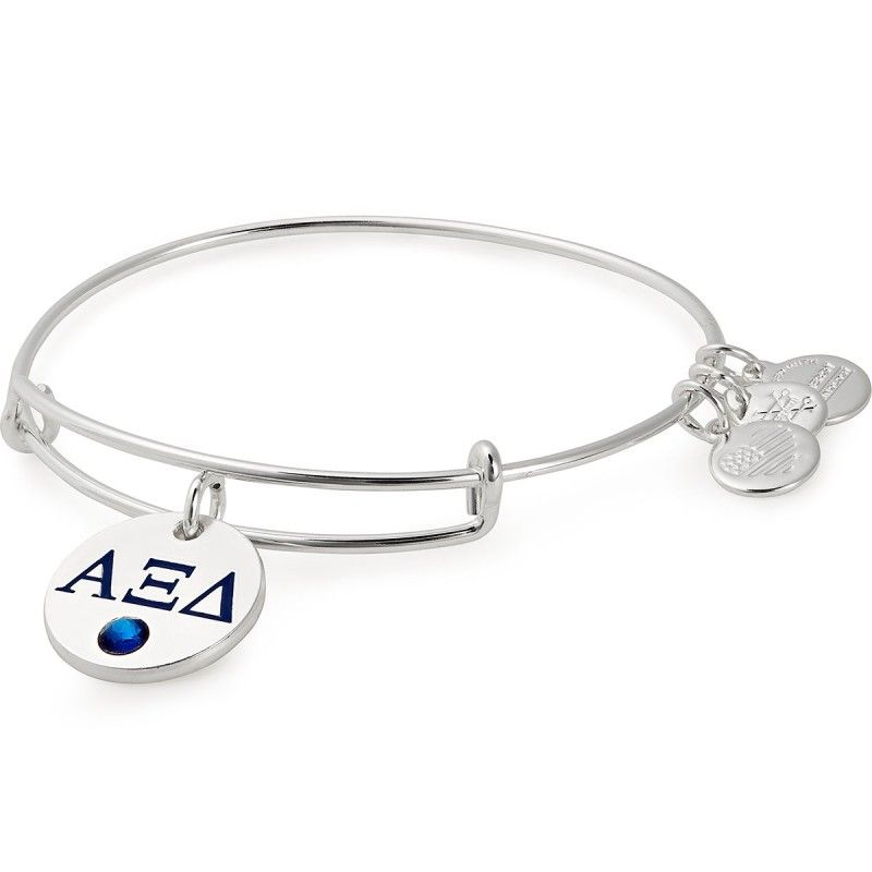 Give your favorite Alpha Xi Delta girl this silver bangle
