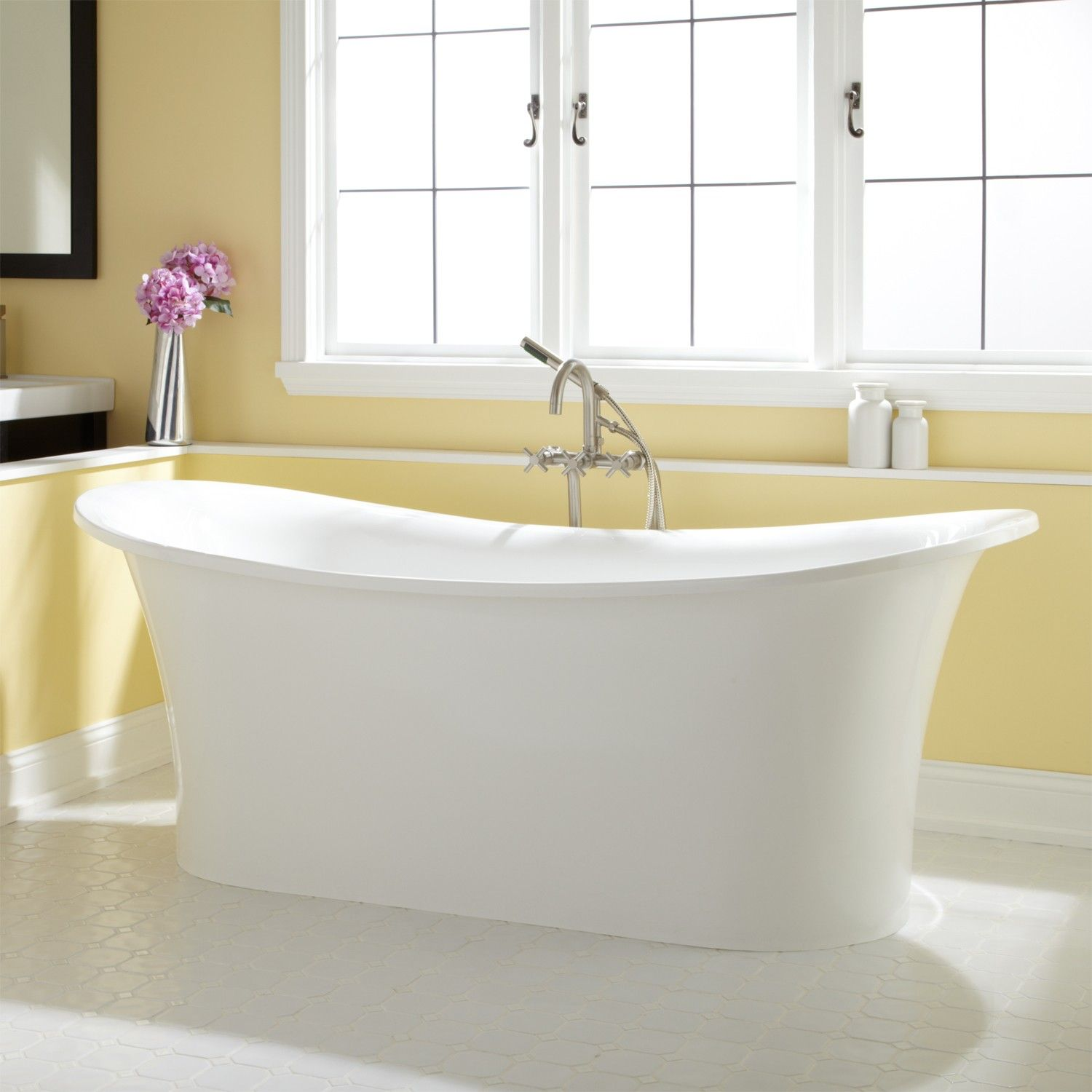 ... Acrylic Tub   Acrylic Tubs   Bathtubs   Bathroom  Http://www.signaturehardware.com/bathroom/bathtubs/acrylic Tubs /72 Shai Freestanding Acrylic Tub.html