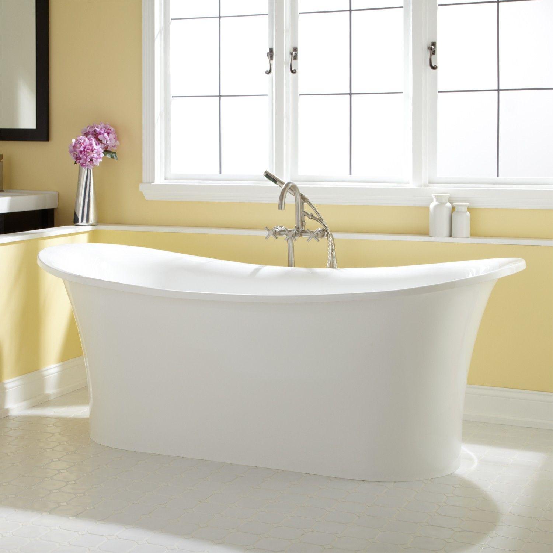 Shai Bateau Acrylic Freestanding Tub Acrylic Tub Tubs And - 55 inch freestanding tub