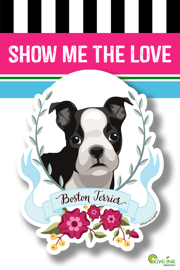 Boston Terrier Sticker Boston Terrier Vinyl Decal Boston Etsy Dog Decals Dog Lover Gifts Funny Dog Pictures