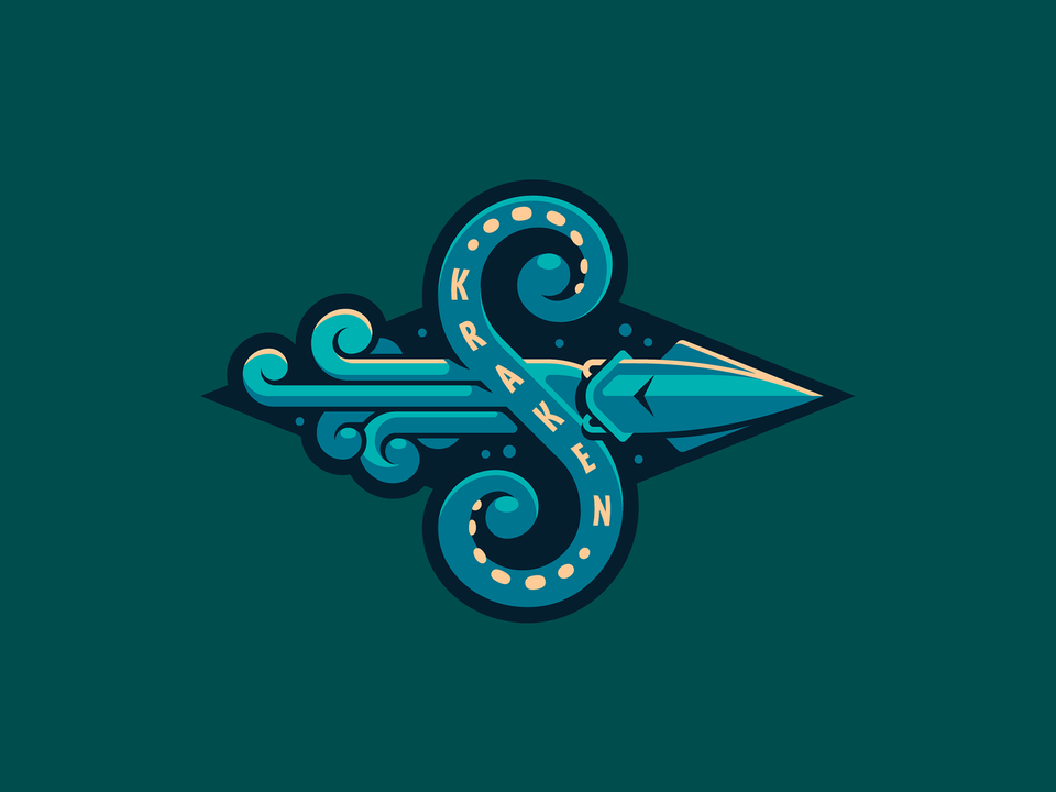 Hi I Made A Concept Of Logo For Seattle Kraken Just For Fun Nhl In 2020 Kraken Design Inspiration B Letter Logo