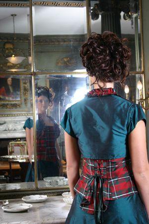 Tartan Dress - Part of The Scotclans photoshoot at Newhailes 7a3fb6e2d7141