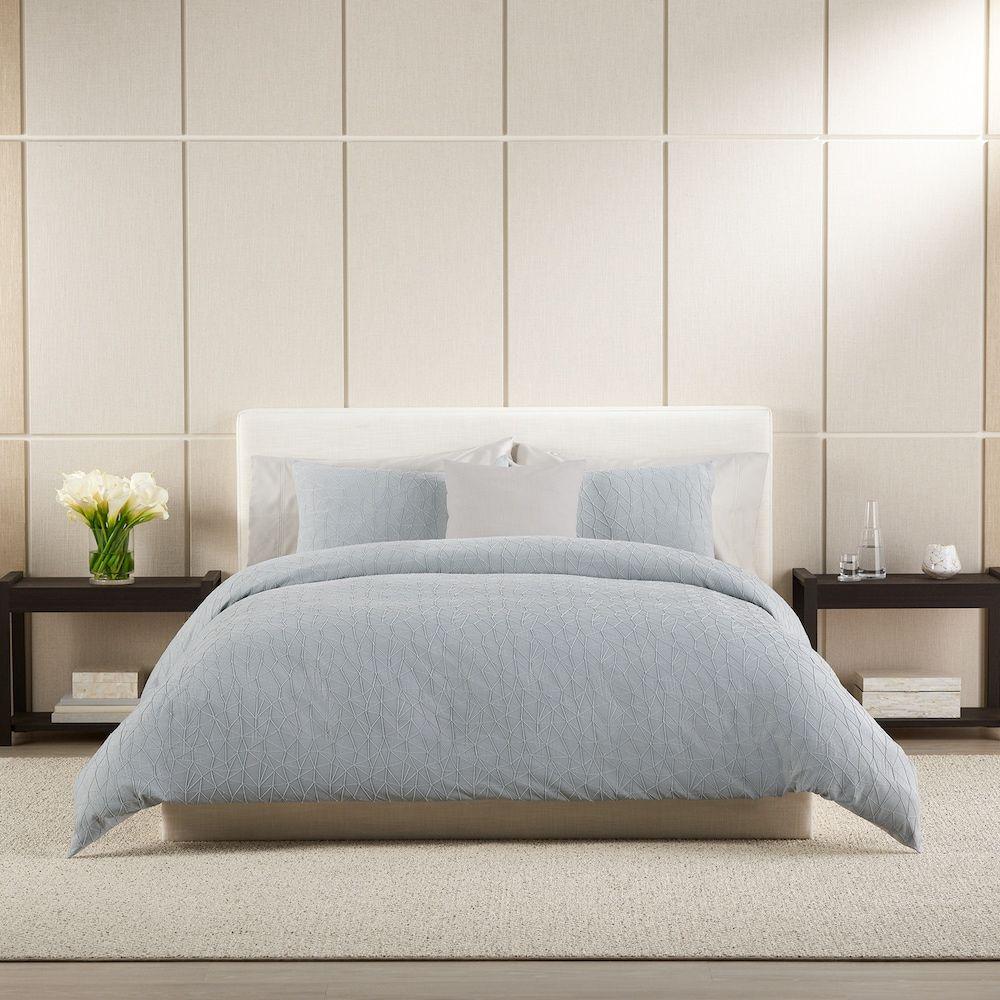 Simply Vera Vera Wang Triangle Texture Comforter Set Light Blue