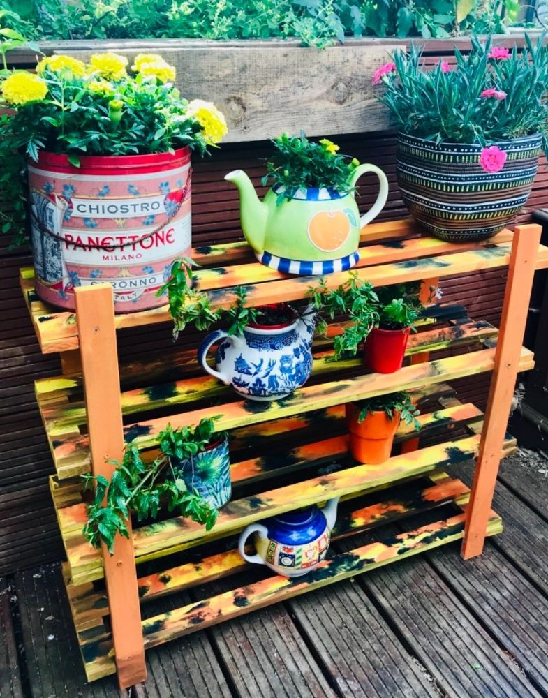 Transform Your Old Shoe Rack Into A Garden Display Shoe Rack Coffee Table Upcycle Diy Display