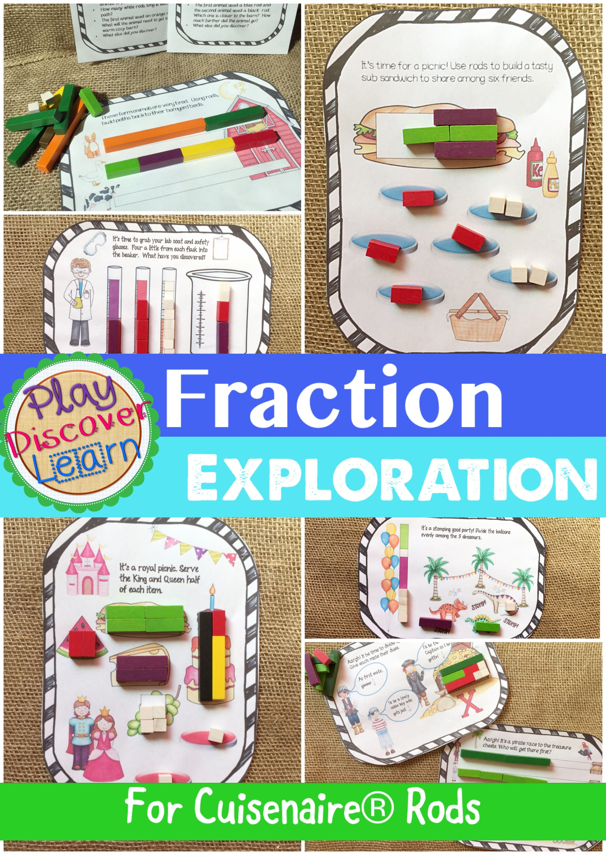 Pdl S Fraction Exploration Bundle For Cuisenaire Rods