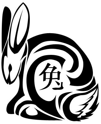 Tribal Chinese Rooster Tattoo Chinese Zodiac Rabbit By