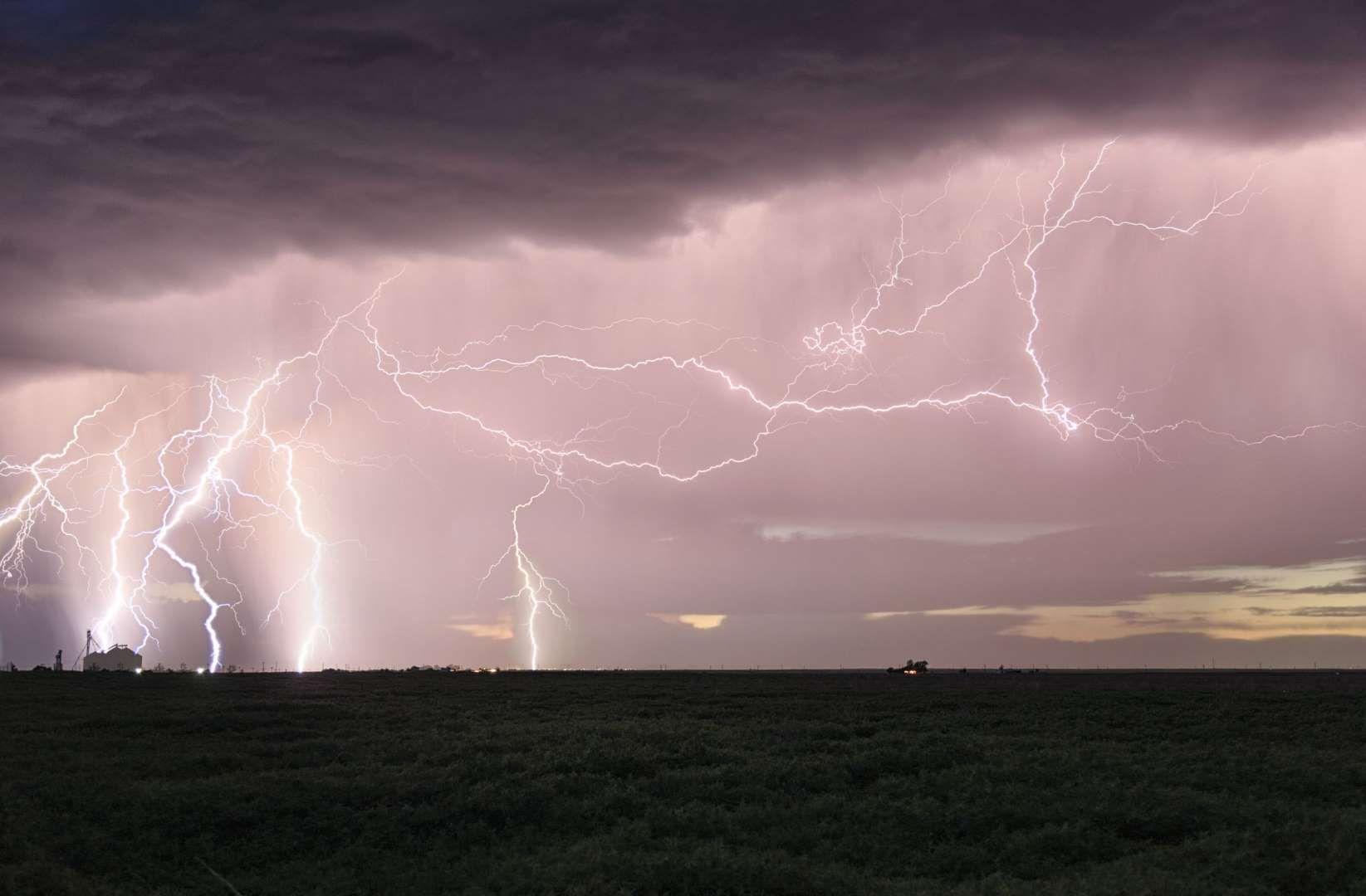 Lightning barrage near Dalhart, Texas - Marko Korosec/Solent News/REX