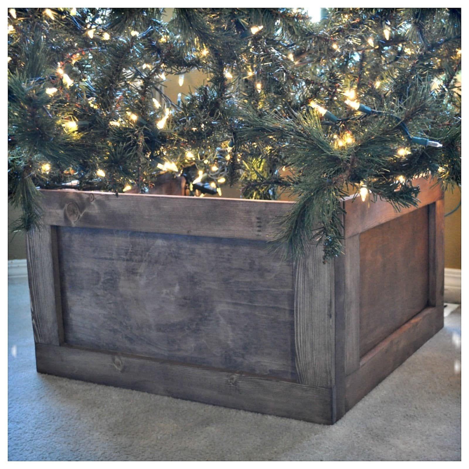 Foldable Wood Christmas Tree Collar Christmas Tree Box Christmas Tree Base Wood Christmas Tree