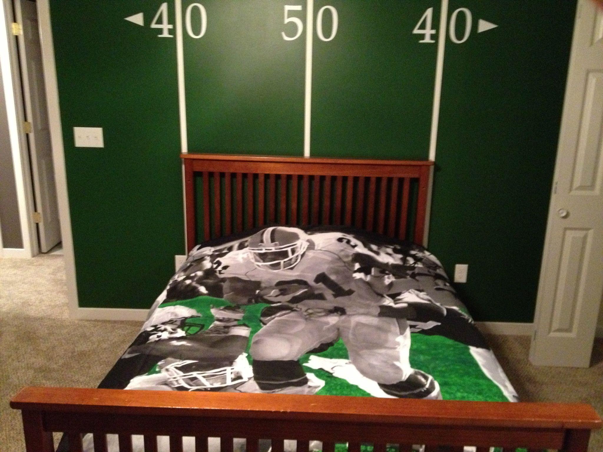 Boys football bedroom ideas - Football Room Yard Line Wall Football Roomsboy