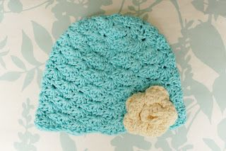 Alli Crafts: Free Pattern: Lacy Shells Hat - 6 Months