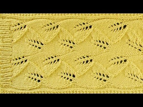 Lace Leaf Scarf Lace Knitting Repeat Explained Stitch By Stitch