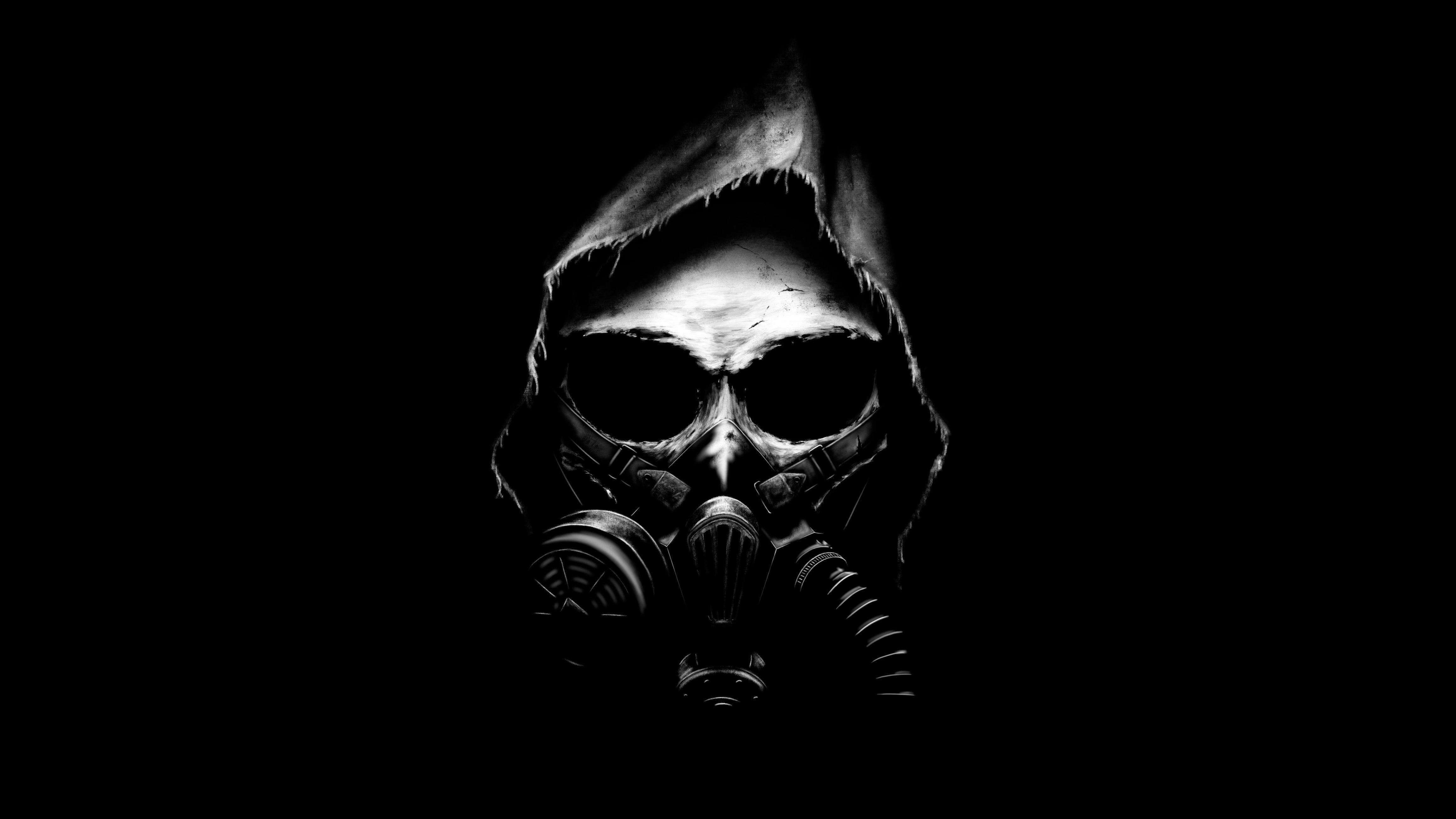 4k Apocalypse Dark Background Black Minimal Gas Mask Skull 4k Wallpaper Hdwallpaper Desktop In 2020 Skull Wallpaper Black Skulls Wallpaper Gas Mask
