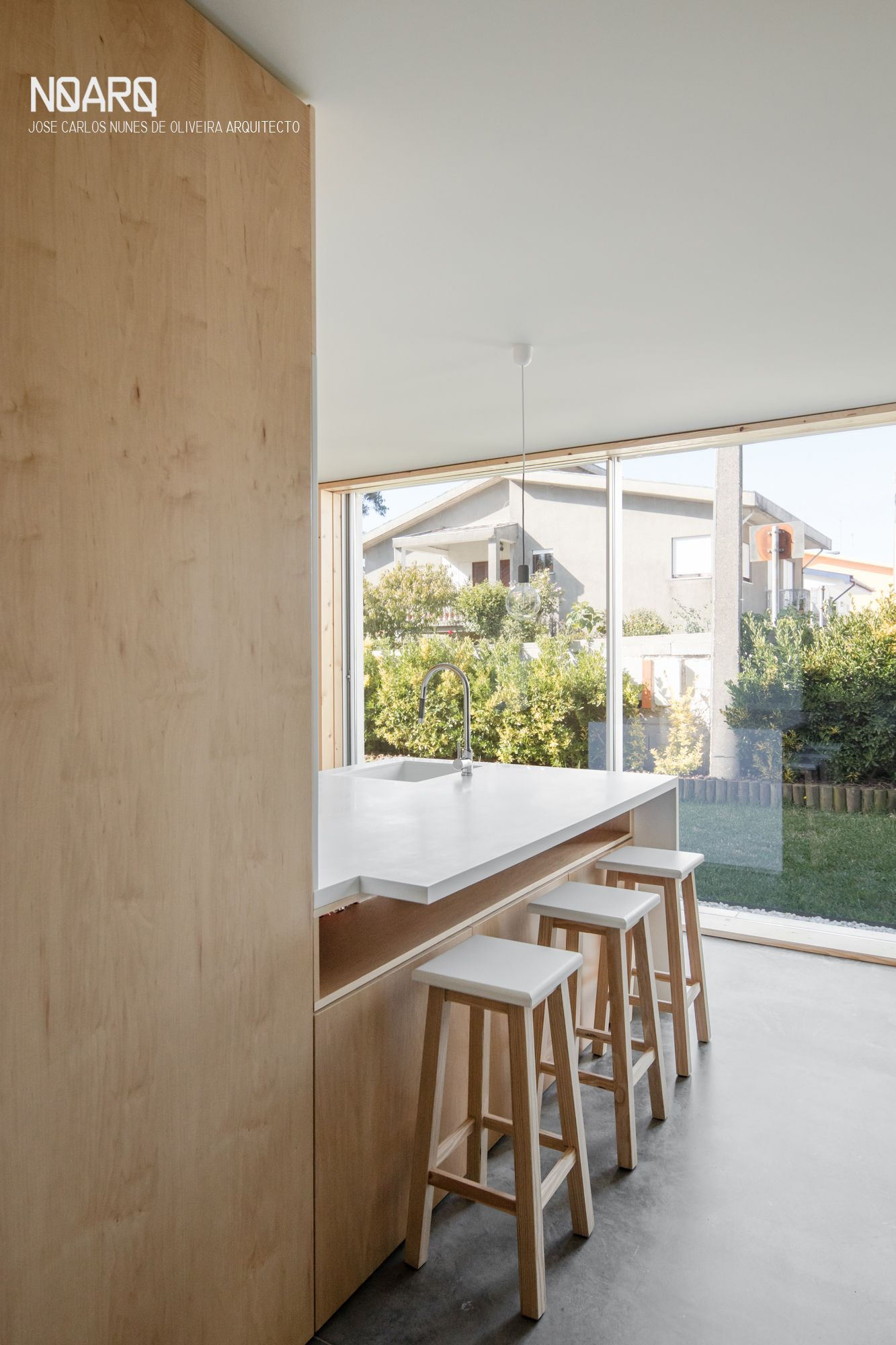 House wooden window design  mami house u kitchen view  noarq house interior kitchen