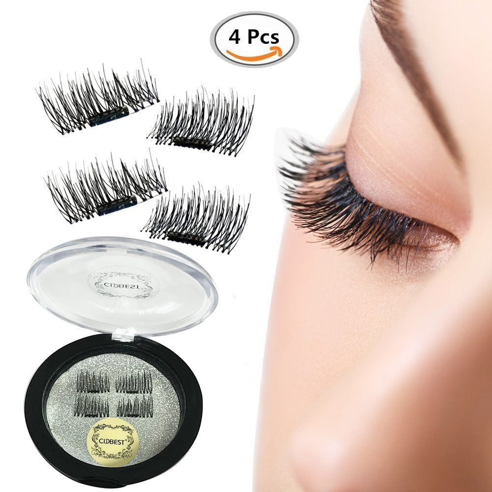 Amazon Magnet False Eyelashes 3d Natural Reusable Eyelashes