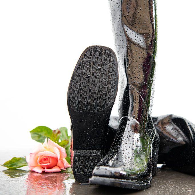Rubber Boots With Nice Heel In 2020 Gummistiefel Regenstiefel