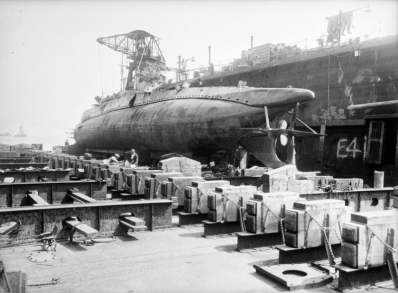 Submarine 'UC' under construction (Germany 1915) - unknown - Royal ...