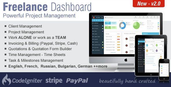 Freelance Dashboard v20 - Project Management CRM Software up4vn