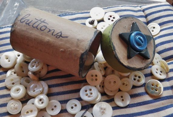 BUTTON GIFT Hand painted Paper Mache Button by FiveLittleButtons, $15.00