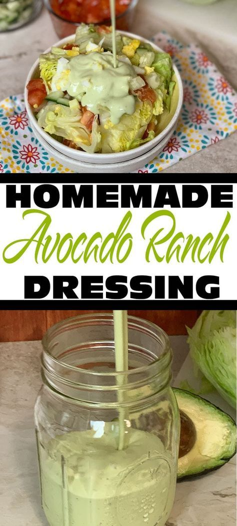 Homamade Creamy Avocado Ranch Dressing