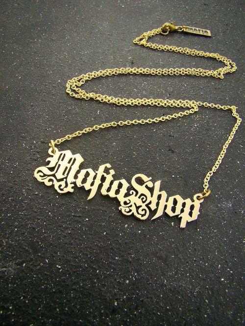 "Old English Charm: Old English Font Style Example ""MafiaShop"" Personal"