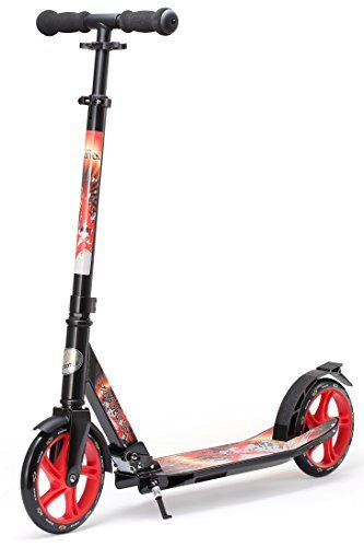 Bikestar 205mm 8 Inch Foldable Premium Kick Push Kids Scooter Color Black Red Click Image To Review More Details Kids Scooter Kick Scooter Stunt Scooter