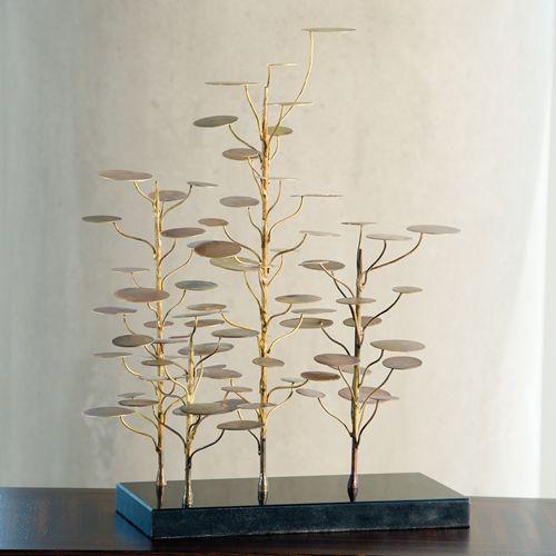 Eucalyptus Tree Decorative Accent Sculpture Tree Sculpture Decor Accent Decor