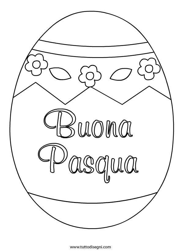 Uovo di Pasqua decorato da colorare , TuttoDisegni.com