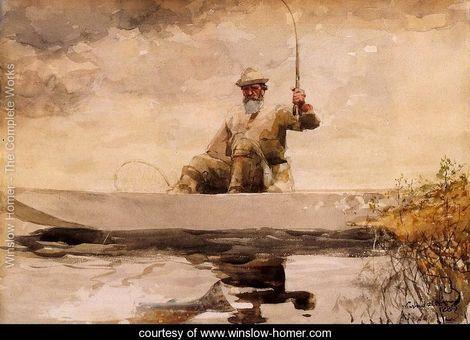 Fishing in the Adirondacks - Winslow Homer - www.winslow-homer.com